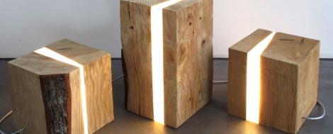 Brecce le lampade di legno liloco - Lampade con legno ...
